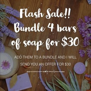 Flash Sale🥰 4 bars of artisan soap for $30